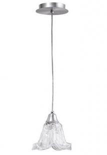 Pendente Tecla Alumínio Escovado 1 Lâmpada Vidro Pequeno Madelustre