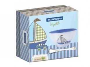 Jogo de Talheres Infantil Inox Le Petit 2pc Azul Tramontina
