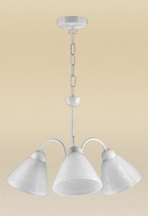 Pendente Bárbara 3 Lâmpadas Alumínio Branco Madelustre