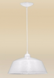 Pendente Bárbara 1 Lâmpada Cúpula 30cm Alumínio Branco Madelustre