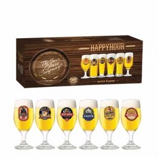 Jogo Taças Cerveja Roma Decorado 330ml 6 Peças Ruvolo