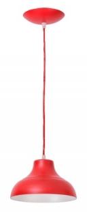 Pendente Estância Alumínio Pintado 1 Lâmpada Vermelho Madelustre