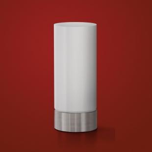 Abajur 24cm Bivolt Cilindrico Acende Toque Branco Hugy Design