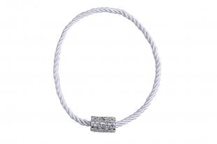 Abraçadeira para Cortina Infinity com Ima Branco Bella Arte
