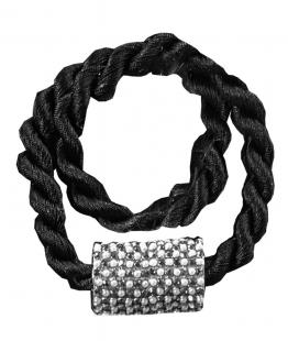 Abraçadeira para Cortina Infinity com Ima Preto Bella Arte