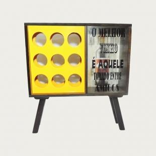 Adega e Porta Rolha 9 Garrafas Vintage Concept