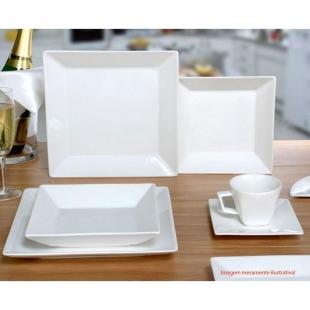 Aparelho Jantar Chá Quartier White 30pc Oxford