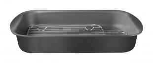 Assadeira com Grelha em Alumínio com Revestimento Antiaderente Grafite 34 cm 4,9 L Tramontina