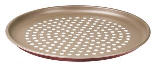 Assadeira para Pizza Vermelha Alumínio Antiaderente Perfurada 30 cm Tramontina