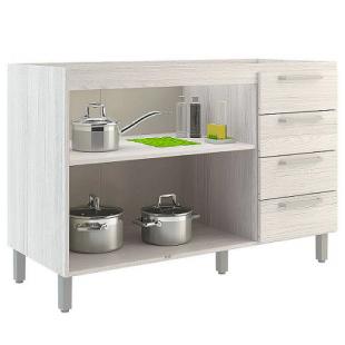 Balcão para Cozinha 2 Portas 4 Gavetas Gourmet sem Tampo Teka Sensitive/Demolição THB