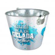 Balde Gelo ø22,5cm Quanto Mais Gelada Melhor 5L Etilux