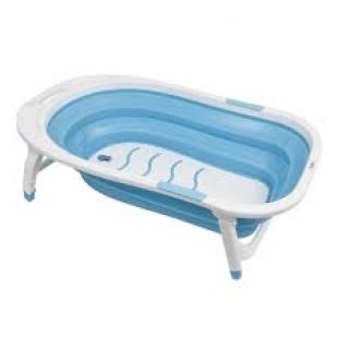 Banheira Baby Dobrável Azul Buba
