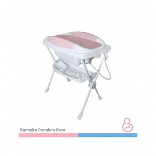 Banheira Bebe Plástica Premium Rosa Galzerano