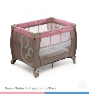 Berço Ninho Cappuccino Rosa Galzerano