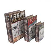 Book Box 3Pçs Life is Like Goods Br