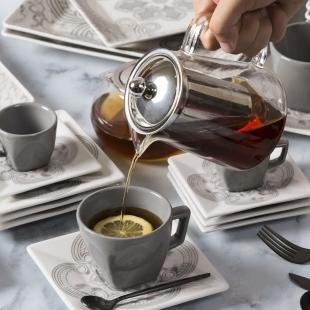 Bule de Chá com Infusor Inox 800ml Oxford