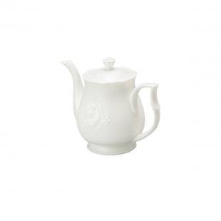 Bule P/Chá de Porcelana Super White Queen 1l Lyor