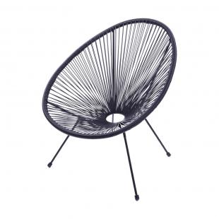 Cadeira Acapulco 1160 Preta Or Design
