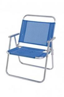 Cadeira alumínio azul Oversize Mor