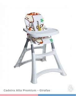 Cadeira de Papá Alta Premium Girafas Galzerano