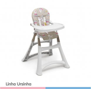 Cadeira de Papá Alta Premium Ursinha Galzerano
