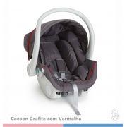 Cadeira para Carro Cocoon Grafite Vermelho Galzerano