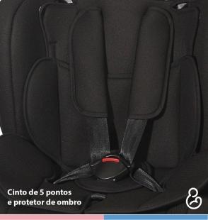 Cadeira para Carro Dorano II Preto Galzerano