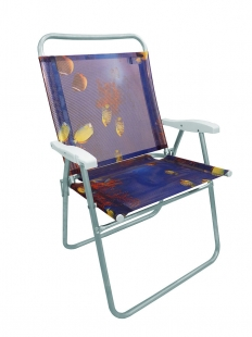 Cadeira Praia Kingsize Estampada Peixe Zaka
