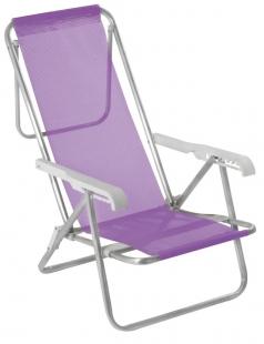 Cadeira Reclinável 8 Posições Alumínio Lilás Mor