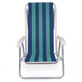 Cadeira Reclinável 8 Posições Alumínio Sortidas Mor
