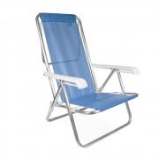 Cadeira Reclinável Alumínio 8 Posições Azul Mor