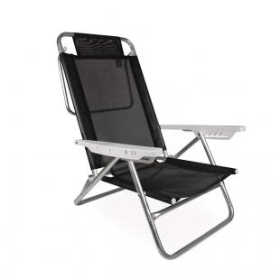Cadeira Reclinável Summer Preta Mor