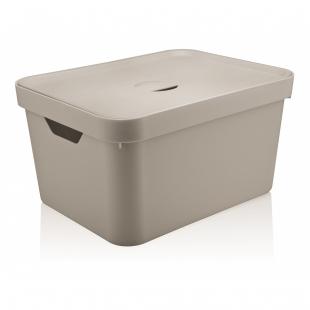 Caixa Organizadora Cube G c/ Tampa Bege CC650 OU