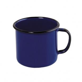Caneca Aço Esmaltado 8cm 370ml Azul Ewel