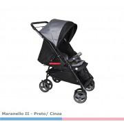 Carrinho Bebê Maranello II  Preto Cinza Galzerano