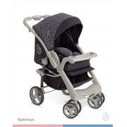 Carrinho Bebê Optimus  Preto Cinza Galzerano