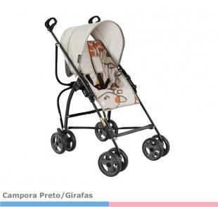 Carrinho Campora Preto Girafas Galzerano
