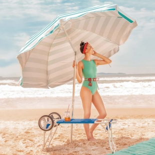 Carrinho de Praia com Avanço para Caixa Térmica Mor