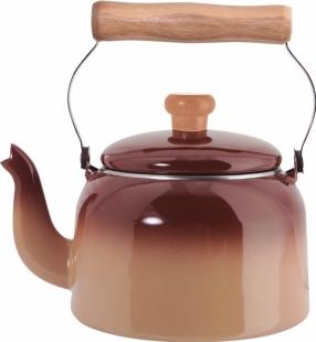 Chaleira Tradicional Aço Esmaltado 16 1,8 litros Marrom Mãe Ágata Ewel