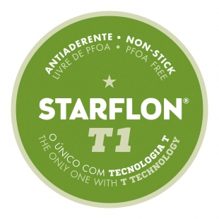 Chaleira Alumínio Antiaderente Branco / Grafite Starflon T1 1,9 L  Tramontina