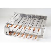 Churrasqueira Rotativa Inox Dupla 15 Espetos 220V Arke