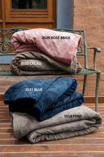 Cobertor/Manta Blanket Jacquard Blue Queen Kacyumara