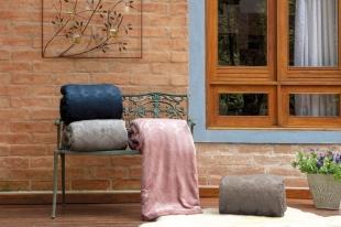 Cobertor/Manta Blanket Jacquard Rosé Bride Casal Kacyumara