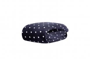 Cobertor/Manta Blanket Vintage Poá Marinho Solteiro Kacyumara