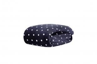 Cobertor/Manta Blanket Vintage King Poá Marinho Kacyumara