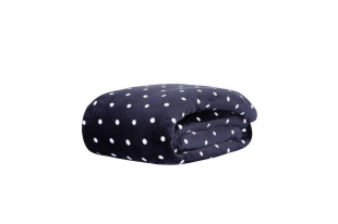 Cobertor/Manta Blanket Vintage Poá Marinho Casal Kacyumara