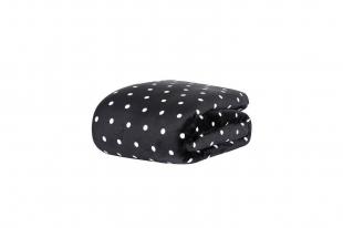 Cobertor/Manta Blanket Vintage Poá Preto Queen Kacyumara