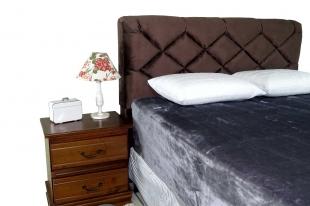 Cobertor King Toque De Luxo Cinza 240x250 Europa