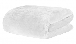 Cobertor/Manta Solteiro Blanket 300 Branco Kacyumara