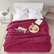 Cobertor Queen 220x240 Cervinia Ornare Bordo Corttex